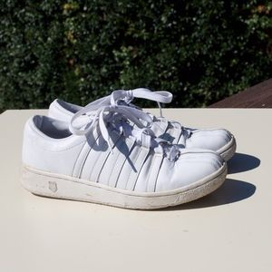 K Swiss White Tennis Sneakers Shoes 9 Classic VN